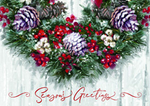 Winter Wreath Holiday Cards
